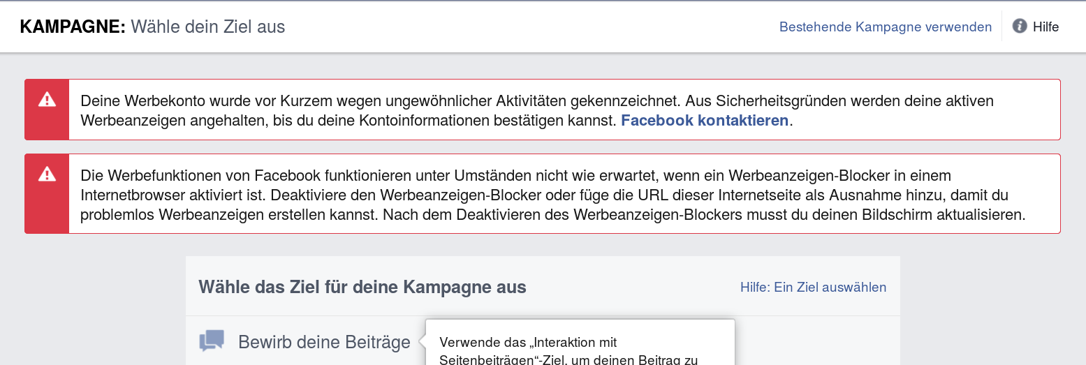 mark zuckerber kampagne